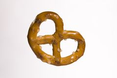 Pretzel on white 1 Stock Photos