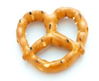 Pretzel on White Royalty Free Stock Image