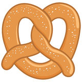 Pretzel. A pretzel on white background, isolated Stock Photo