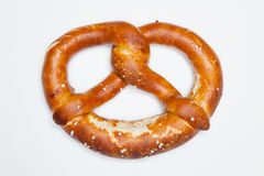 Pretzel on white Stock Photos