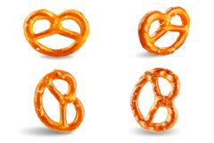 Free Pretzel With Salt On A White Isolated Background Royalty Free Stock Photos - 161300748