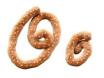 Free Pretzel With Sesame Font. Royalty Free Stock Photo - 187670675
