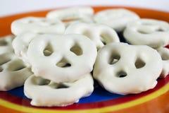 Pretzeles del yogur Foto de archivo