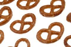 Pretzels à l'angle Image stock