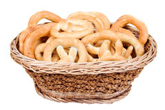 pretzels καλαθιών Στοκ εικόνα με δικαίωμα ελεύθερης χρήσης