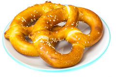 Pretzels παραδοσιακό γερμανικό πρόχειρο φαγητό μπύρας Στοκ φωτογραφία με δικαίωμα ελεύθερης χρήσης