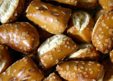 Pretzels. Pretzel nuggets piled close up Royalty Free Stock Photography