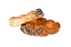 Pretzels. Romanian pretzels on white background Stock Image