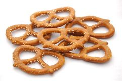 Pretzels. A photograph of pretzels against a white background Stock Image