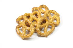 Pretzels. An appetizing pile of pretzels isolated on white Stock Photography