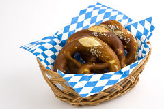 Pretzels in the basket Royalty Free Stock Photography