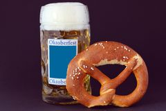 Pretzels and beer Stock Photo