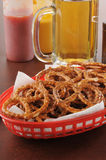 Pretzels with beer Stock Images