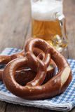 Pretzels with beer Stock Image
