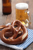 Pretzels with beer Stock Photography