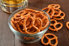 Pretzels with beer Royalty Free Stock Image