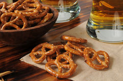 Pretzels with beer Royalty Free Stock Photo