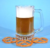 Pretzels and beer Royalty Free Stock Image