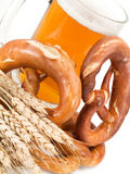 Pretzels and beer Royalty Free Stock Photo