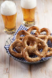 Pretzels and beer Royalty Free Stock Photos