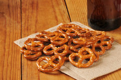 Pretzels and beer Stock Images