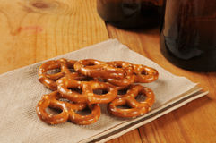 Pretzels and beer Royalty Free Stock Photography