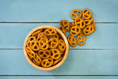 Pretzels in bowl Royalty Free Stock Photo