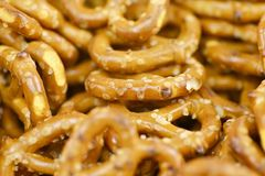 Pretzels Closeup Stock Images
