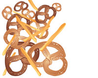 Pretzels and french fries Royalty Free Stock Images