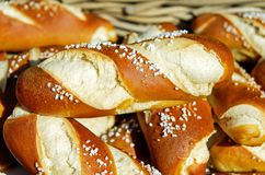 Pretzels, Fritters, Baked Goods Royalty Free Stock Images