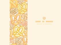 Pretzels horizontal seamless pattern background Stock Photo