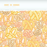 Pretzels horizontal torn seamless pattern Stock Image
