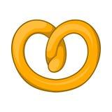Pretzels icon, cartoon style Stock Images