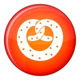 Pretzels icon, flat style Royalty Free Stock Images