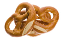 Pretzels isolated on white Royalty Free Stock Photography