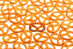 Pretzels isolated on a white background Royalty Free Stock Photography