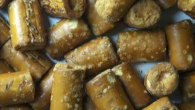 Pretzels, Junk Foods, Baked Snacks stock footage