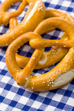 Pretzels on kitchen table Stock Images