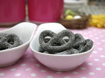 Pretzels of Liquorice Stock Image