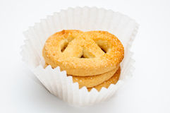 Pretzels in muffin cup Stock Photography