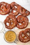 Pretzels And Mustard Stock Image