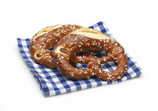 Pretzels on a napkin Stock Photo