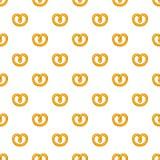 Pretzels pattern, cartoon style Royalty Free Stock Photos
