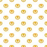 Pretzels pattern, cartoon style Royalty Free Stock Photo