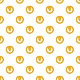 Pretzels pattern, cartoon style Royalty Free Stock Image