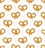 Pretzels pattern Stock Image