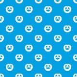 Pretzels pattern seamless blue Stock Image