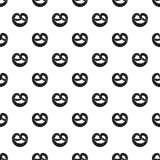 Pretzels pattern vector. Pretzels pattern seamless in simple style vector illustration Stock Photo