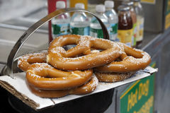 Pretzels on sale at a New York City vendor Stock Photos