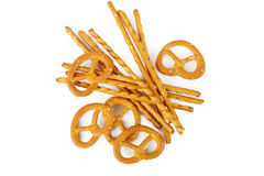 Pretzels and salt sticks Royalty Free Stock Image